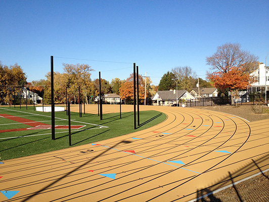 Outdoor Track St. Teresa's Academy - Running Track Surfaces