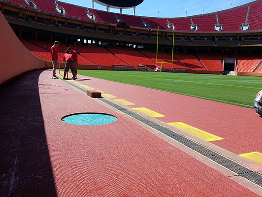 Arrowhead Stadium - Walking Track - Sports Flooring Solutions