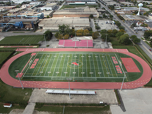 Niles West High School - Outdoor Track Surfaces - Artificial Field Turf