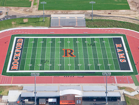 Rockford High School - Outdoor Track Field Surfaces