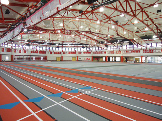 Carthage College Running Track Flooring