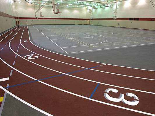 Crown Point High School Running Track Flooring