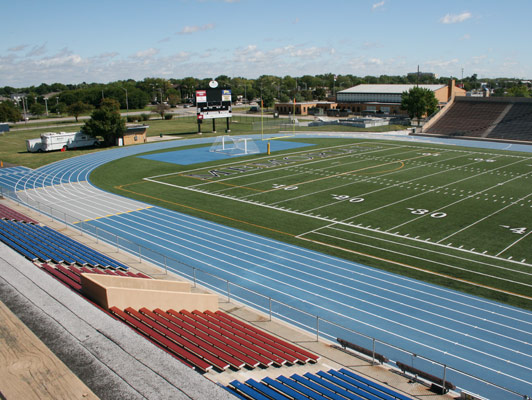 Joliet Memorial Stadium Running Track Flooring