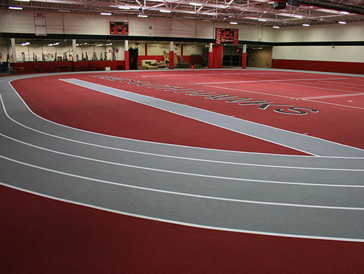 Maine South High School Running Track Flooring