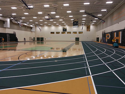 Preble High School Running Track Surfaces