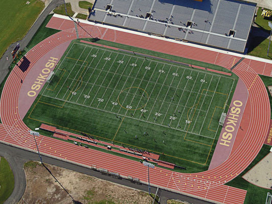 Oshkosh WI University Running Track Surfaces