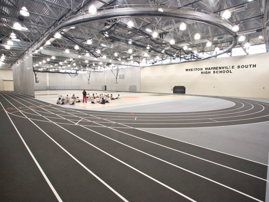 Running Track Surfaces Wheaton Warrenville South High School