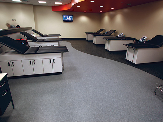 Oklahoma State University Training Room Flooring
