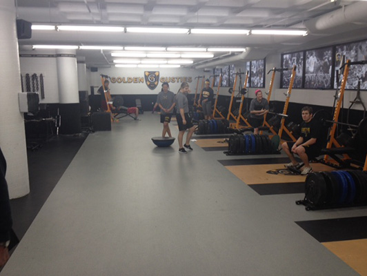 Gustavus Adolphus College Weight Room Floor