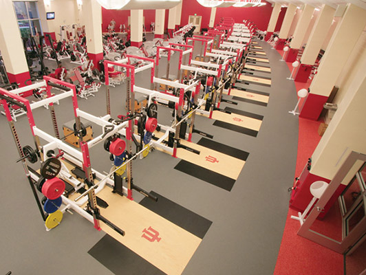Weight Room Flooring - Indiana University