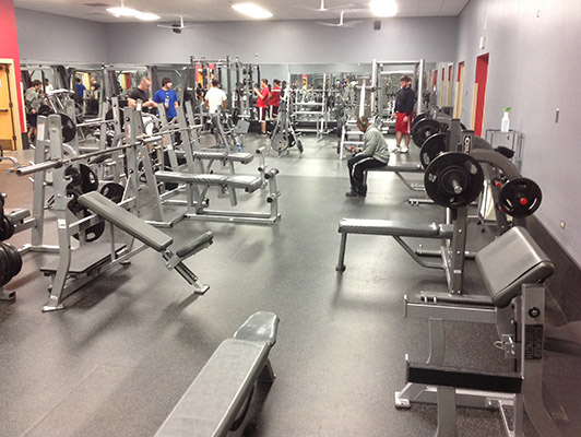 Northern Illinois University Weight Room Floor