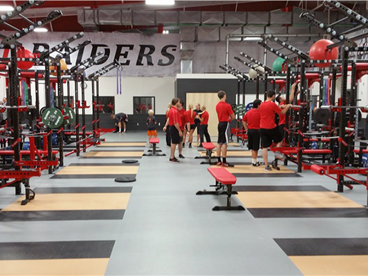 Weight Room Flooring - Northwestern College