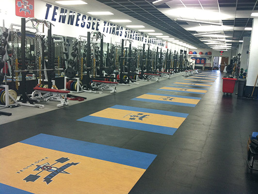 Weight Room Floors - Tennessee Titans
