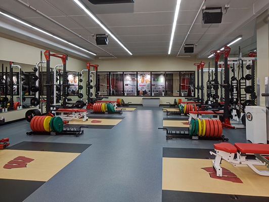 University WI Madison - Weight Room Floor