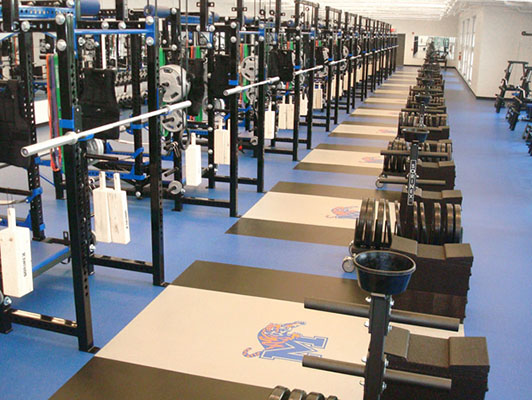 University Of Memphis Weight Room Flooring