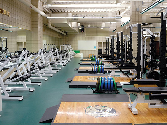 University Of North Dakota Weight Room Flooring