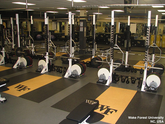 Weight Room Flooring - Wake Forest University