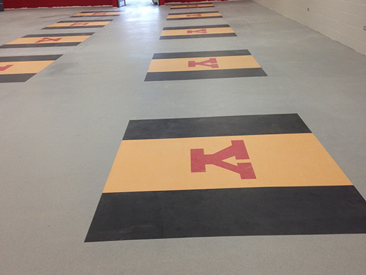 Yorkville High School Weight Room Flooring