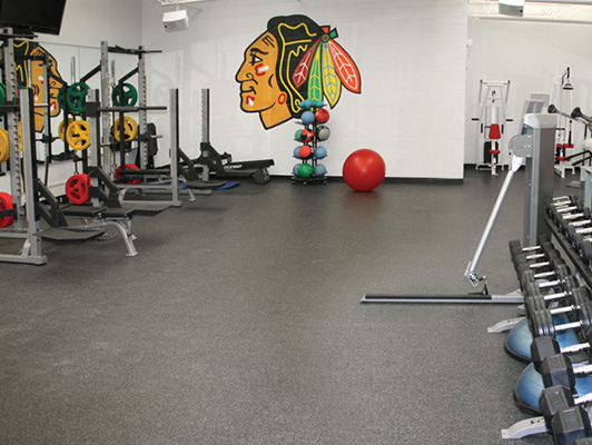 Chicago Blackhawks Weight Room Flooring