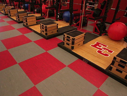 East Central High School Weight Room Flooring