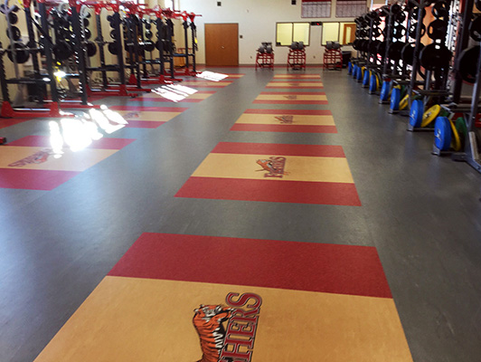 Fishers High School - Weight Room Flooring