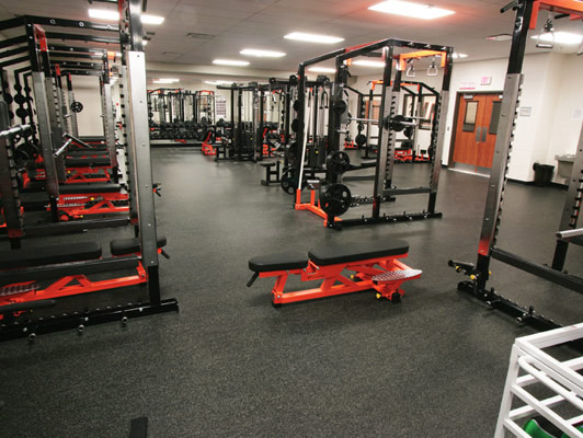 Lincolnway West High School Weight Room Flooring