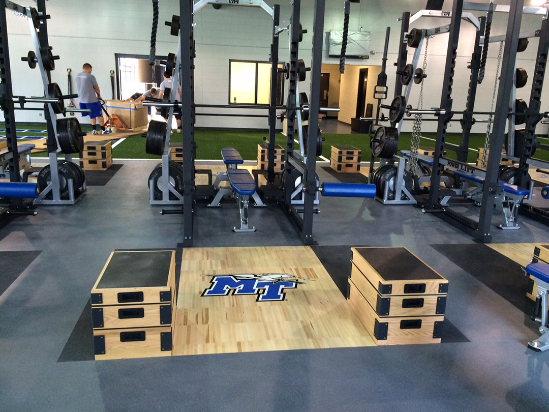 Middle Tennessee State University Weight Room Flooring