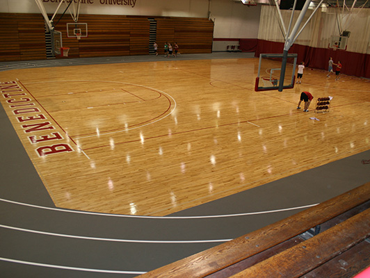 Benedictine University - Wood Gymnasium Flooring