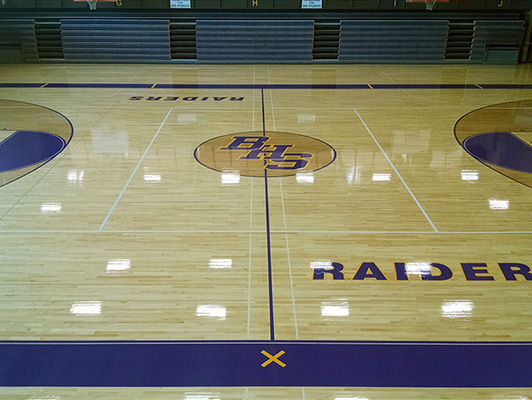 Bloomington High School - Wood Gymnasium Floor
