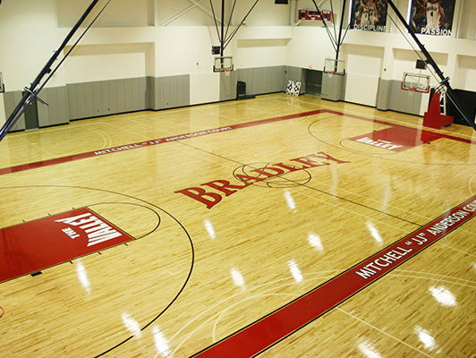 Bradley University - Hardwood Gym Flooring