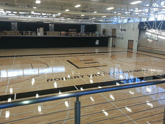 Eisenhower High School - Wood Gym Floor