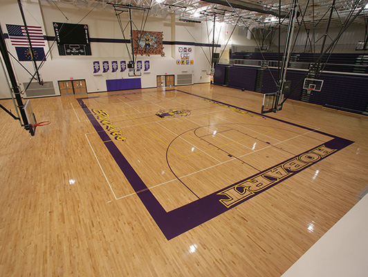 Hobart High School - Wood Gym Flooring