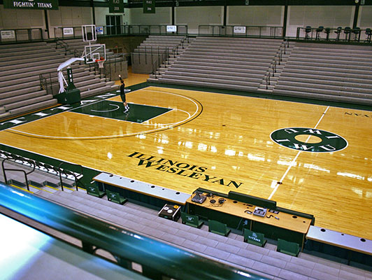 Illinois Wesleyan University - Hardwood Gym Flooring