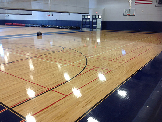 Oswego East High School - Hardwood Gym Flooring