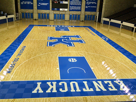 University Kentucky - Hardwood Gym Floor
