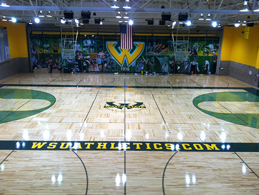 Wayne State University - Hardwood Gym Flooring