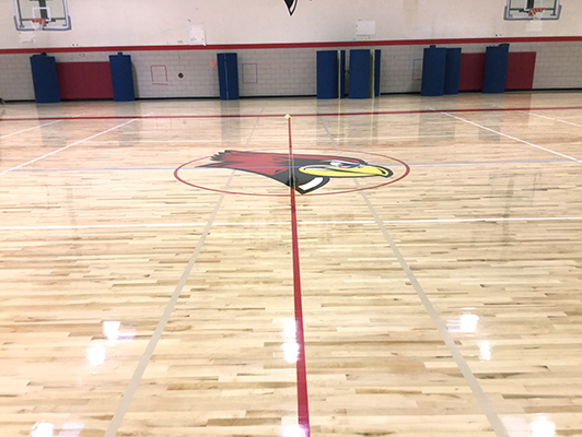 Illinois State University - Hardwood Gym Floor