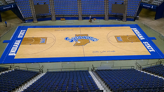 Indiana State University - Hardwood Gym Flooring