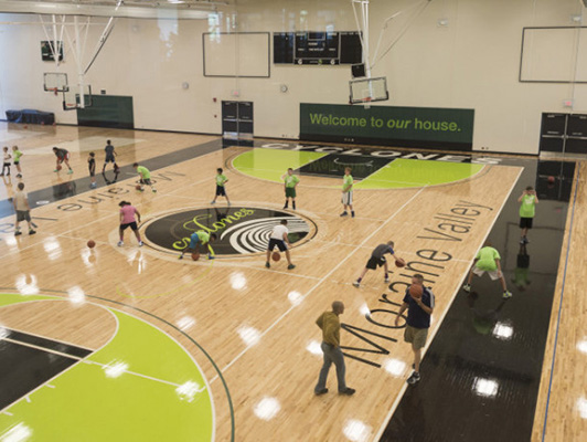 Moraine Valley Community College - Hardwood Gym Floor