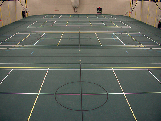 Lorain Community College - Sports Rubber Floor