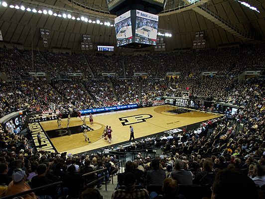 Purdue University Mackey Arena - Hardwood Gym Flooring