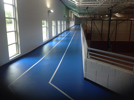 Bartlett Comm Center - Rubber Running Track