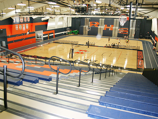Rochester High School - Hardwood Gym Flooring