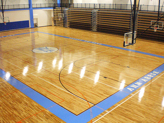 Skyline High School - Basketball Flooring - Hardwood Gym Flooring