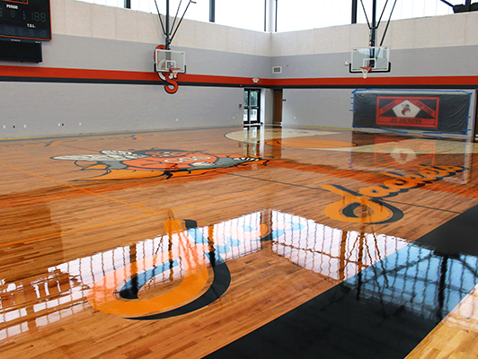 Chester Grade School - Hardwood Gym Flooring