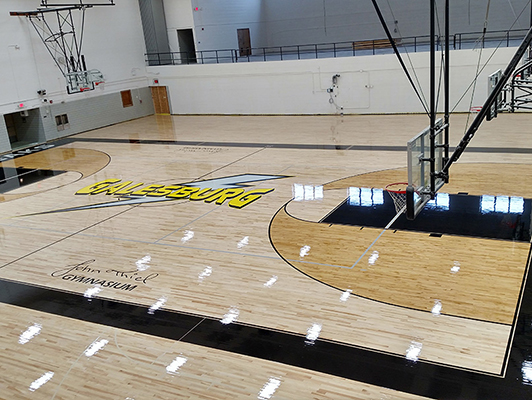 Galesburg High School - Hardwood Gym Flooring