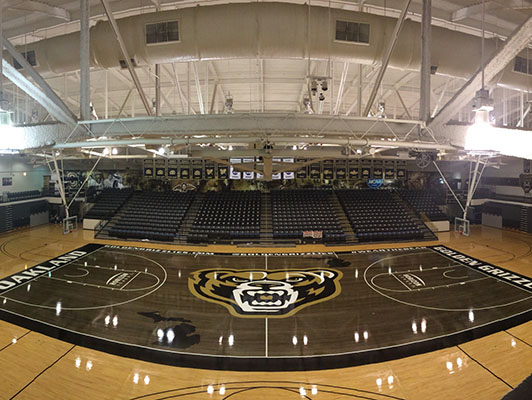 Oakland University - Hardwood Gym Flooring