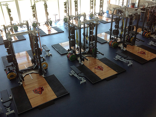 Bears Halas Hall Strength Training Flooring