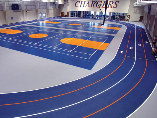 North Montgomery High School - Rubber Sports Flooring