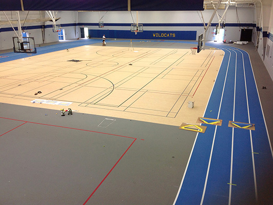 Wheeling High School - Indoor Sports Flooring